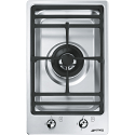 "Smeg PGF31G-1 31cm ""Domino"" Ultra Low Profile Single Burner Gas Hob"