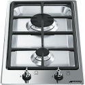 "Smeg PGF32G 31cm ""Domino"" Ultra Low Profile 2 burner Gas Hob"