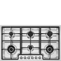 "Smeg PGF96 87CM ""Classic"" Ultra Low Profile 6 burner Gas Hob"