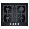 Bosch PNP6B6B90 60cm black tempered glass Gas Hob