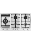 "Smeg PS906-5 90cm ""Classic"" Gas Hob in St/steel"