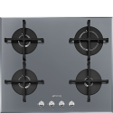 "Smeg PV164S2 60cm ""Linea"" Gas on Glass hob, Silver"