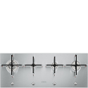 "Smeg PX1402 100cm ""Linea"" Ultra low profile, Gas hob, St/steel"