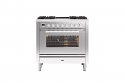 ILVE Roma P09IWE3 Ilve 90cm cooker with single 90cm oven and 4 gas burners and 2 zone Induction
