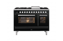ILVE Roma P12FWE3 120cm cooker with 90cm + 30cm ovens with 6 gas burners and Fry Top