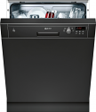 Neff S41E50S1GB Semi integrated dishwasher with black control panel