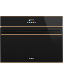 Smeg SAB4604NR Built In Blast Chiller, Black Glass with Copper Trim