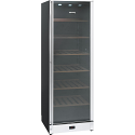 Smeg SCV115A 115 Bottle Wine Cooler in Gloss Black and St/steel with Glass Door, Right hand hinged