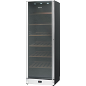 Smeg SCV115AS 115 Bottle Wine Cooler in Gloss Black and St/steel with Glass Door, Left hand hinged
