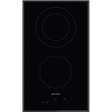 Smeg SE332EB 30cm Touch Control Ceramic hob, with angled edge glass