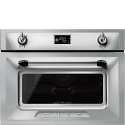 "Smeg SF4920VCX1 ""Victoria"" Traditional Compact Combination Steam Oven, Stainless Steel"
