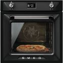 "Smeg SFP6925NPZE1 60cm ""Victoria"" Traditional Pyrolytic Multifunction oven with Soft Close Door, Black"