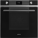 "Smeg SFP6101TVN ""Linea"" Pyrolytic Multifunction Oven, Black"