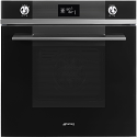 "Smeg SFP6102TVN ""Linea"" Pyrolytic Multifunction Oven with Soft Close Door, Black"