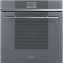 "Smeg SFP6104SPS ""Linea"" Smart Steam Pyrolytic Multifunction oven, Silver Glass"