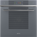 "Smeg SFP6106WTPS ""Linea"" Pyrolytic Multifunction WIFI oven, Silver Glass"