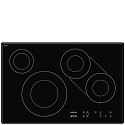 Smeg SI3842B 77cm Touch Control Induction Hob with Angled Edge Glass