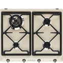 "Smeg SR964PGH 60cm ""Victoria"" Traditional Gas Hob, Cream"