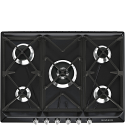 "Smeg SR975NGH 69cm ""Victoria"" Traditional Gas Hob, Black"
