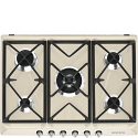 "Smeg SR975PGH 69cm ""Victoria"" Traditional Gas Hob, Cream"