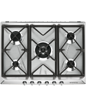 "Smeg SR975XGH 69cm ""Victoria"" Traditional Gas Hob, Stainless Steel"