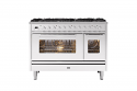 ILVE Roma P128WE3 120cm cooker with 90cm + 30cm ovens with an 8 gas burner top
