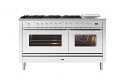 ILVE Roma P15FSWE3 150cm cooker with 90cm + 60cm ovens with 6 gas burners and Coup de Feu