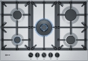 Neff T27DS59N0 75cm wide 5 Burner Gas Hob in Stainless Steel