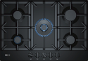 Neff T27DS59S0 75cm Wide 5 Burner Gas Hob in Black enamel