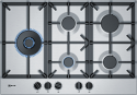 Neff T27DS79N0 75cm wide 5 burner Stainless Steel Gas Hob