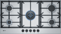 Neff T29DS69N0 90cm wide 5 burner gas hob in Stainless Steel
