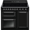 """Smeg TR103IBL 100cm """"Victoria"""" Traditional 3 cavity Cooker with Induction hob, Black"""