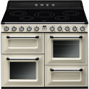 """Smeg TR4110IP 110cm """"Victoria"""" Traditional 4 cavity Cooker with Induction Hob, Cream"""