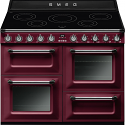 """Smeg TR4110IRW 110cm """"Victoria"""" Traditional 4 cavity Cooker with Induction Hob, Red Wine"""
