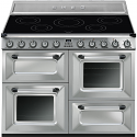 """Smeg TR4110IX 110cm """"Victoria"""" Traditional 4 cavity Cooker with Induction Hob, Stainless Steel"""
