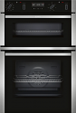 Neff U2ACM7HN0B Double oven with pyrolytic self cleaning in both ovens