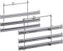 Neff Z11TF36X0 3 level fully extendable telescopic rails