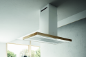 Elica Bio-Island 120cm x 52.5cm Island hood in White with Oak