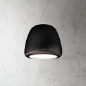Elica DIVA-ROCK Decorative Ceiling or Wall mounted Cooker Hood in Matt Black