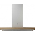 Elica Bio 90cm Chimney hood in White with Oak
