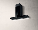 Elica HAIKU-120-BLK 120cm wide wall mounted cooker hood in Black