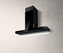 Elica HAIKU-90-BLK 90cm wide wall mounted cooker hood in black