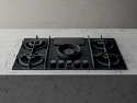 Elica Nikolatesla NT-FLAME-BLK-RC Black Air Venting Gas Hob- Re-circulation version