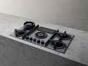 Elica Nikolatesla NT-FLAME-GR-DO Grey Air Venting Gas Hob- Duct Out version