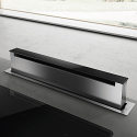 Elica PANDORA SS 80cm Push Mechanism Downdraft Extractor in Stainless Steel and Black Glass