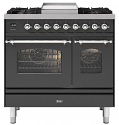 ILVE Milano PD09FNE3 90cm cooker 60cm + 30cm ovens and 4 burners and fry top