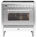 ILVE Roma PI09WE3 90cm cooker with single 90cm oven and 5 zone Induction