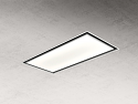 Elica SKYDOME16 100cm wide ceiling hood in white - 16cm shallow depth version