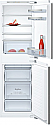 Neff KI5852FF0G 50:50 Split Integrated Fridge Freezer with Fixed Hinges