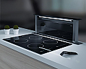 Elica ANDANTE-90-BLK 90cm Downdraft Extractor with Black Glass control panel